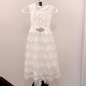 "Trish Scully Antique White ""Bella Brianna"" Dress"